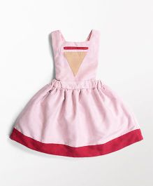 MilkTeeth Pinafore Triangle Design Dress - Pink
