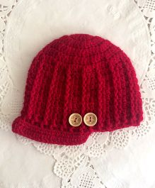 Buttercup From Knitting Nani Newsboy Cap - Maroon