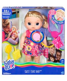 Baby Alive Sweet Tears Baby Blonde - Pink