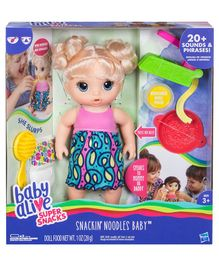 Baby Alive Super Snacks Snackin' Noodles Baby Blonde - Multi Colour
