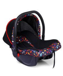 Baby Carry Cot Cum Car Seat - Black Red