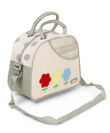 Diaper Bag Flower Patch - Cream