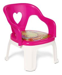 Giraffe Print Kids Chair - Dark Pink White