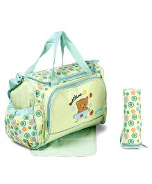Diaper Bag Bear Emboridery - Green
