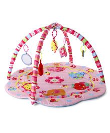 Animals Print Twist N Fold Activity Play Gym - Multi Colour Pink
