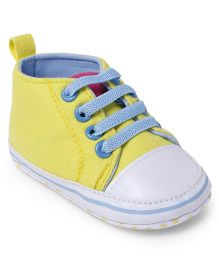 Cute Walk by Babyhug Shoes Style Booties - Yellow