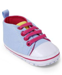 Cute Walk by Babyhug Shoes Style Booties - Sky Blue