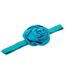NeedyBee Satin Rossette Headband - Blue