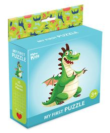 Braino Kidz My First Mini Jigsaw Puzzle Dino Multicolor - 25 Pieces