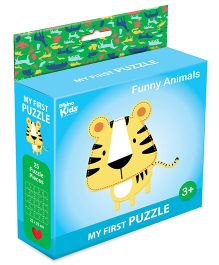 Braino Kidz My First Mini Jigsaw Puzzle Funny Animals Multicolor - 25 Pieces