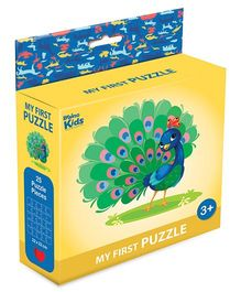 Braino Kidz My First Mini Jigsaw Puzzle Peacock Multicolor - 25 Pieces