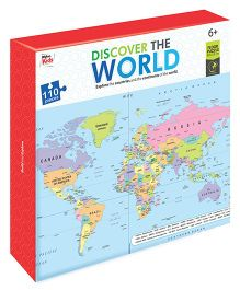 Braino Kidz Discover the World Jigsaw Floor Puzzle - 110 Pieces