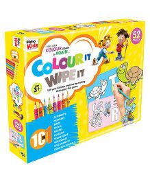 Braino Kids Color It & Wipe It 10 in 1 Card Game Multicolor - 52 Cards