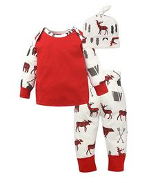 Superfie Mixprint Sets For Kids - White & Red