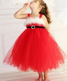 Pre Order - Superfie Xmas Theme Dress For Girls - Red