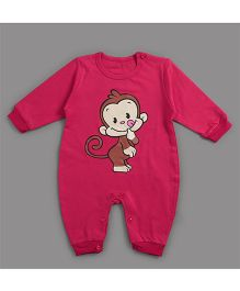 Zonko Style Monkey Patch Romper - Red