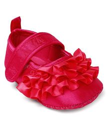 Cute Walk by Babyhug Booties - Dark Pink