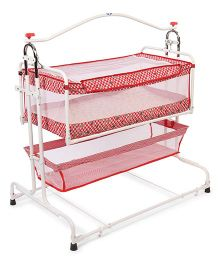 New Natraj Compact Cradle With Basket - Red