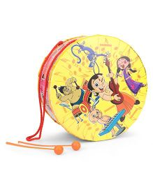 Chhota Bheem Toy Drum Set Character Print Large - Yellow