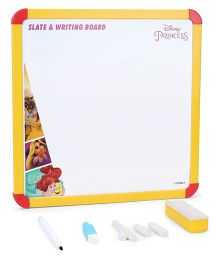 Disney Princess 2 In 1 Slate & Writing Board - Yellow