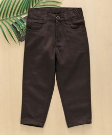 Babyhug Full Length Cotton Trouser - Chocolate Brown