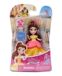 Disney Princess Belle Doll With Accessories Yellow - Height 7.6 cm