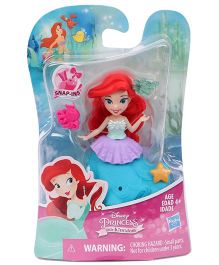 Disney Princess Mermaid Doll With Accessories Red Blue - Height 8 cm