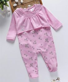 ToffyHouse Footed Sleepsuit Bow - Pink