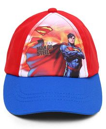 Babyhug Summer Cap Superman Print Red Blue - 50 cm