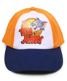 Babyhug Summer Cap Tom & Jerry  Print Orange - 48 cm