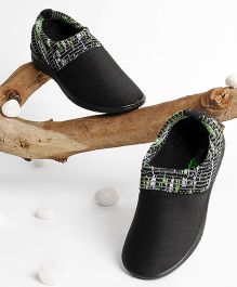 Footfun Casual Shoes - Black Green