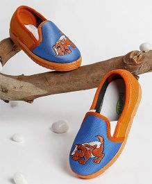 Footfun Casual Shoes Puppy Embroidered - Orange