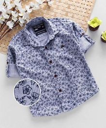 Jash Kids Full Sleeves Floral Print Shirt - Blue