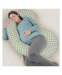 Rabitat Total Body Pregnancy Pillow With Jersey Cover - Light Green
