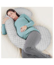 Rabitat Total Body Pregnancy Pillow With Jersey Cover - Grey