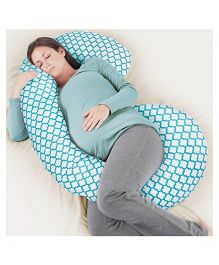Rabitat Total Body Pregnancy Pillow With Jersey Cover - Blue