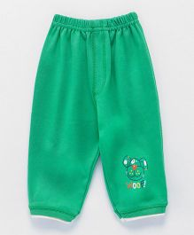 Ollypop Full Length Lounge Pant With Pocket Puppy Face - Green