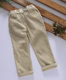 Olio Kids Full Length Trouser Blocks Design - Beige