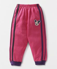 Bodycare Full Length Track Pant Mickey Mouse Patch - Pink
