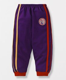Bodycare Full Length Track Pant Daisy Duck Patch - Dark Purple