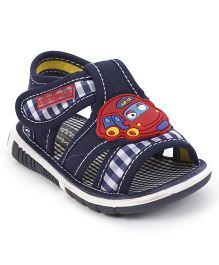 Cute Walk by Babyhug Sandals Taxi Motif - Navy Blue