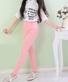 Dazzling Dolls Stretchable Candy Color Jeggings - Pink