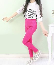 Dazzling Dolls Stretchable Candy Color Jeggings - Dark Pink