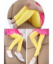 Dazzling Dolls Stretchable Candy Color Jeggings - Yellow