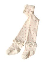 Dazzling Dolls High Waist Ruffled Ankle Stockings With Polka Dots - White