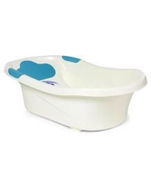 Elephant Print Baby Bath Tub - Blue White