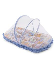 Mee Mee Mattress Set With Mosquito Net Animal Print - Blue