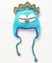Nappy Monster Peacock Cap - Blue