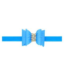 Aadhya Diamonds With Bow Headband - Sky Blue