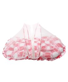 Grandma's Mattress Set With Pillow & Mosquito Net Striped - Pink